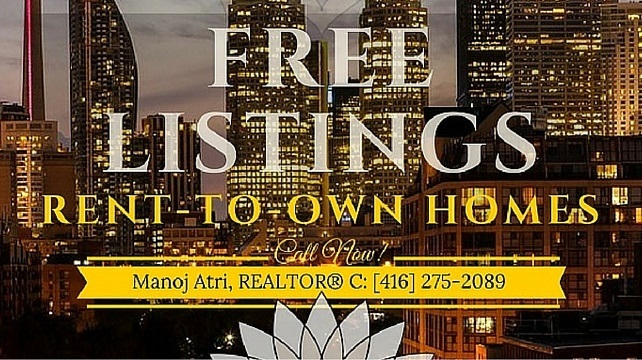 Rent-To-Own Homes FREE Listings Toronto GTA