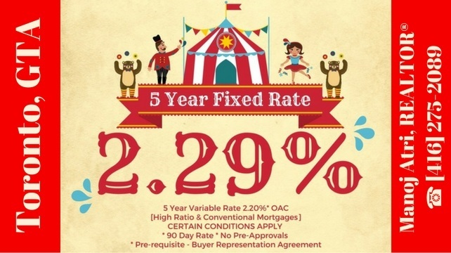 Avail Special 5 Year Fixed / Variable Mortgage Rates OAC.
